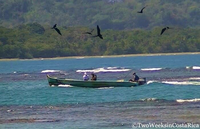 Fishing boat in Cahuita, Costa Rica