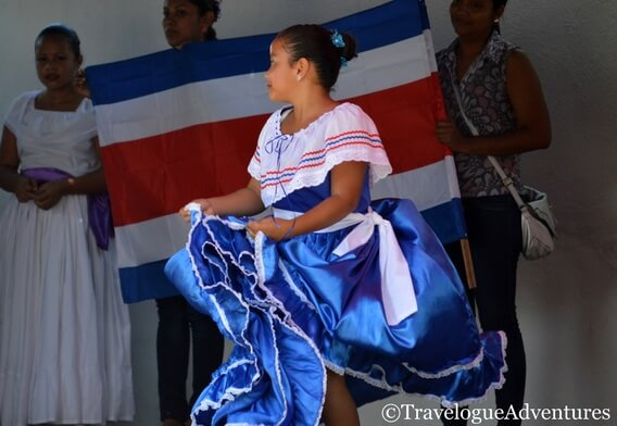 Girl in traditional clothing Costa Rica picture