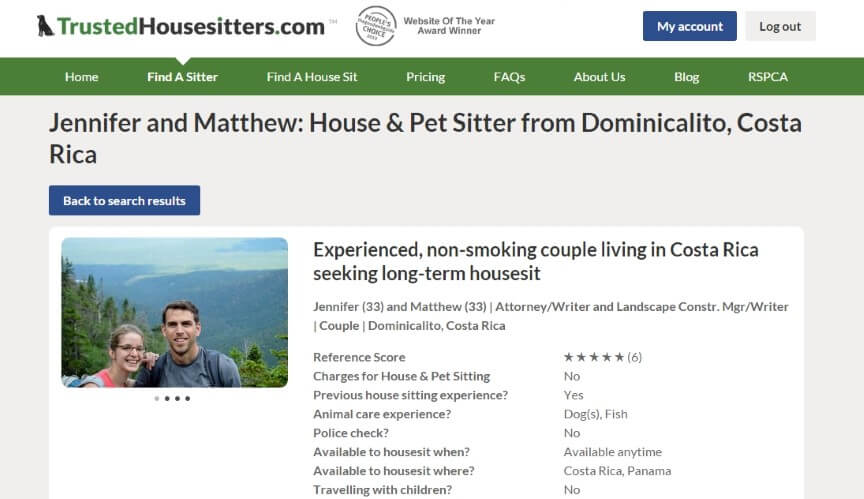 House Sitting: Build a Perfect House Sitter Profile - Two Weeks in