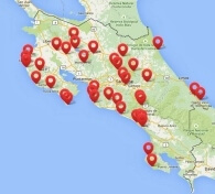 Explore Costa Rica destinations and things to do using our interactive map | Two Weeks in Costa Rica