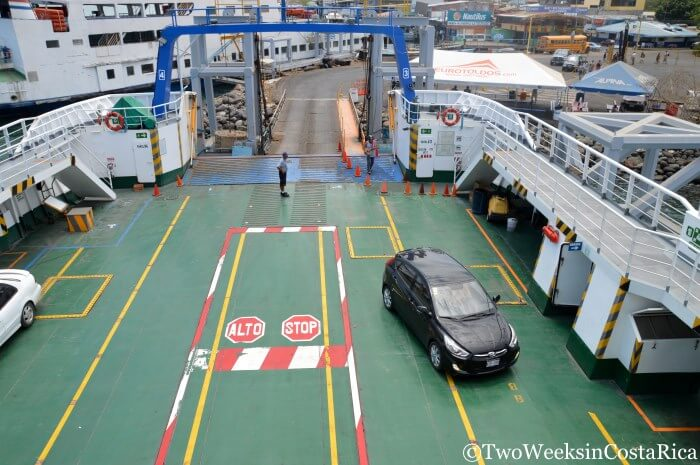 Taking the Puntarenas-Paquera Ferry - Taking Your Car | Two Weeks in Costa Rica