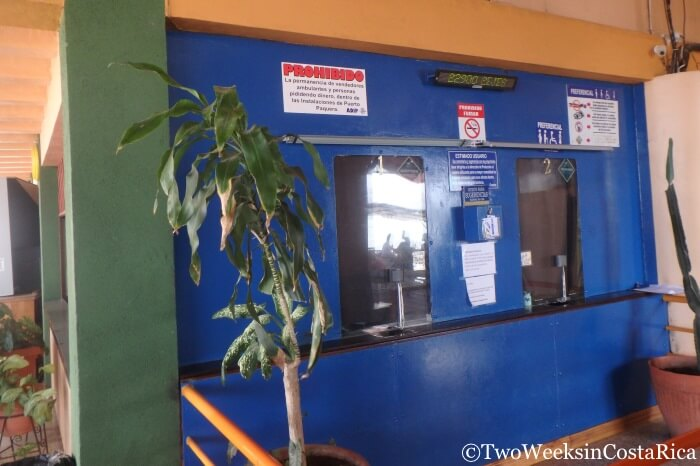 Taking the Puntarenas-Paquera Ferry - Paquera Ticket Office | Two Weeks in Costa Rica