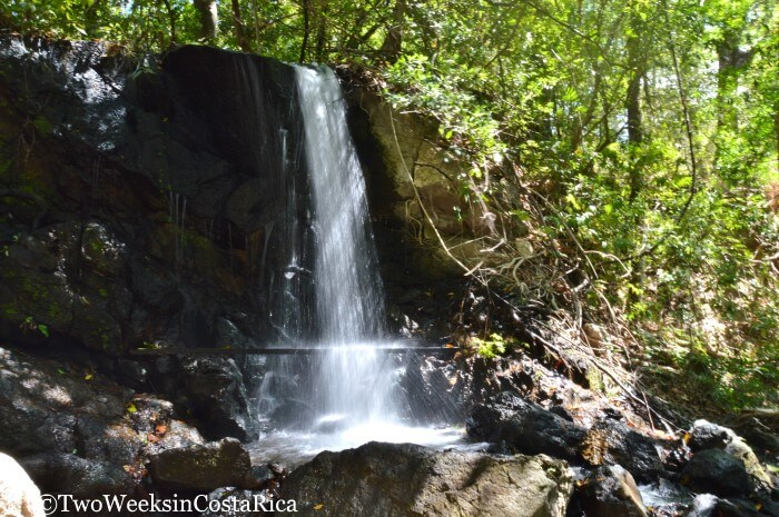 Waterfall in Lomas Barbudal Reserve in Guanacaste