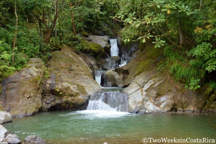 Las Minas Waterfalls near Atenas Costa Rica
